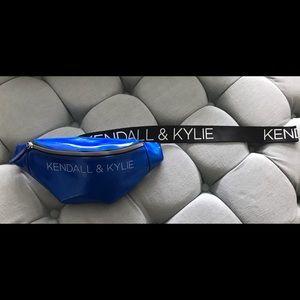Kendall & Kylie Metallic Blue Fanny Pack